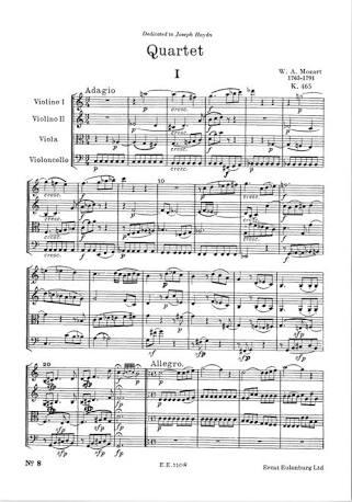 モーツァルト弦楽四重奏曲「不協和音」